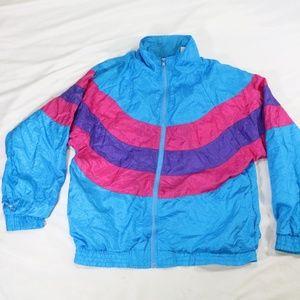 VTG Longstreet Missy 80s Multicolor Track Jacket